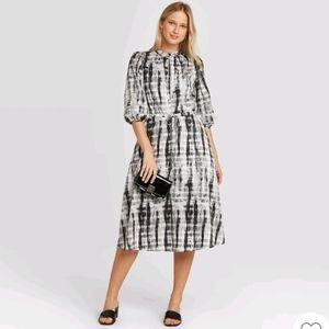 Who What Wear Tie Dye Midi Dress